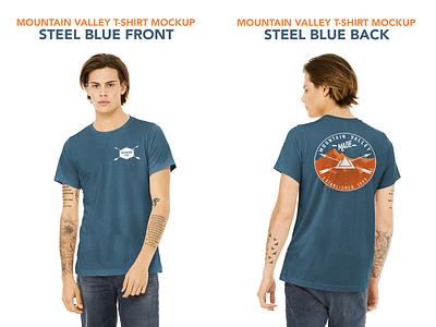 Mountain Valley T-Shirt Design apparel mockup apparel design branding graphic design print design logo design typography design