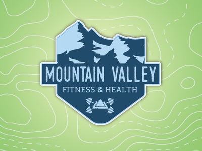 Mountain Valley Fitness & Health Facebook Cover Design graphic design logo web logo design branding design typography