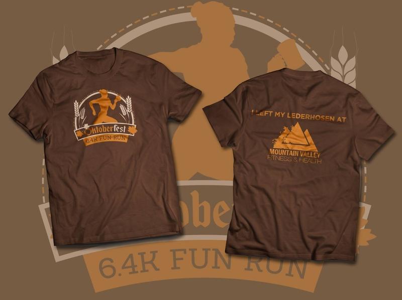 5k Race T-Shirt screenprinting apparel mockup apparel design print design logo design branding design typography