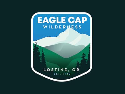 Eagle Cap Wilderness Badge adobe illustrator logo design badge design outdoor badge adobeillustator illustration vector badge graphic design logo branding design typography
