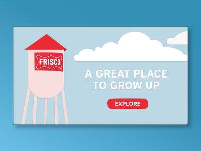 Frisco: a great place to grow up. landing page illustrator flat illustration design