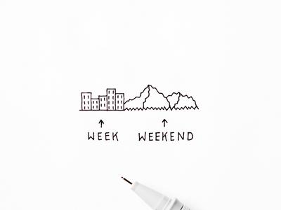 Week vs weekend