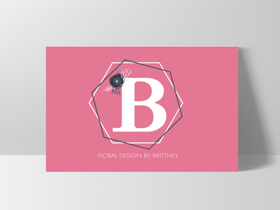Floral Design Monogram Logo Design vector website branding design design business card design logo concept business card branding logo design monogram logo