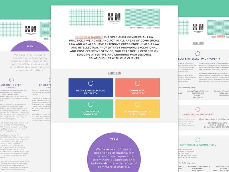 Hooper Nabout Web Concept web design design lawyers typography