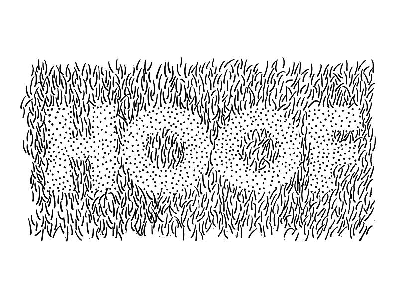 HOOF shaved hair hoof drawing illustration