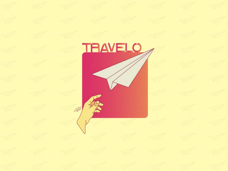 LOGO Travelo airplane logo vector illustrator illustration logo logo travel illustration graphic design design branding art
