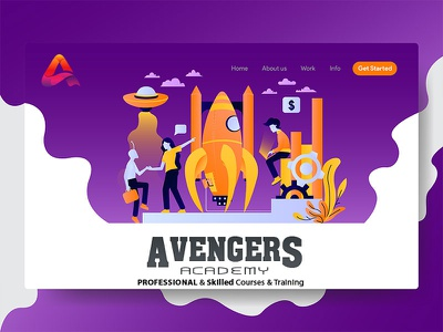 infographic Vector Design  for creativity web landing page aj minimal animation website ui illustrator vector branding typography ux illustration
