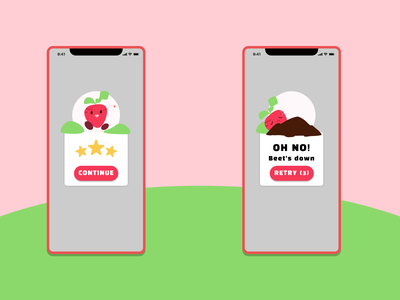 Flash Message - Beet's Adventures affinitydesigner affinity flash message mobile game app ui design dailyuichallenge dailyui