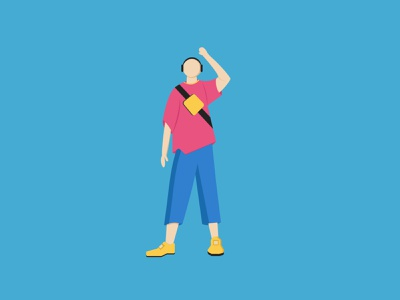 Fashion Character Illustration dribble swag vectorart art youth young 2d vectorillustration colors yellow boy blue pink design character fashion vector adobeillustrator illustration graphic design