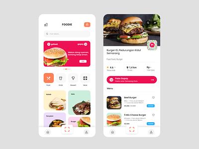 JUNK FOOD Mobile App graphic design branding website animation web ux ui logo design app