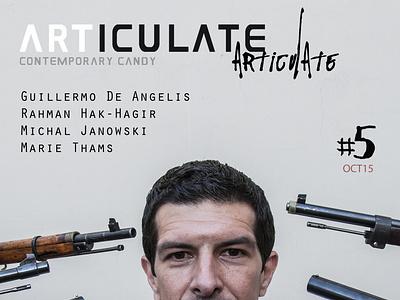 ARTICULATE #5 typography design publication contemporary art art magazine