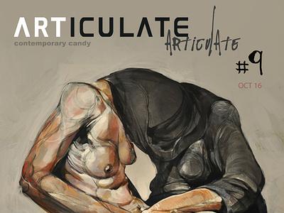 ARTICULATE #9 typography publication design contemporary art art magazine