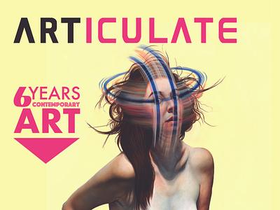 ARTICULATE25 INT 01 branding logo illustration typography design publication contemporary art art magazine