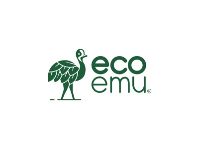 EcoEmu green bird amazonjay brand branding logo emu eco