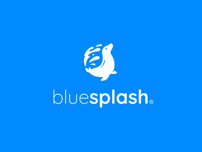 Blue Splash 3 animal seal branding brand logo design logo blue splash splash blue