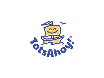 Tots Ahoy! totsahoy happy smile ship brand branding design logo splash mats kids