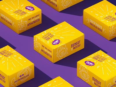POW! Protein 3d design branding brand identity packaging packaging design logo logo design bar protein