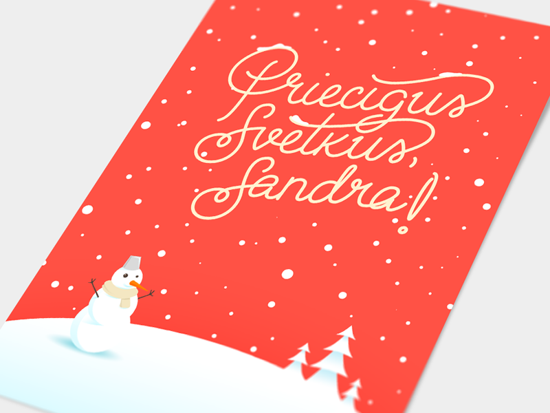 Holiday Cards custom type card white snow holiday happy year new christmas