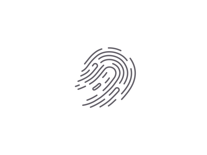 Spooky Identity spooky line ancitis design ghost fingerprint logo
