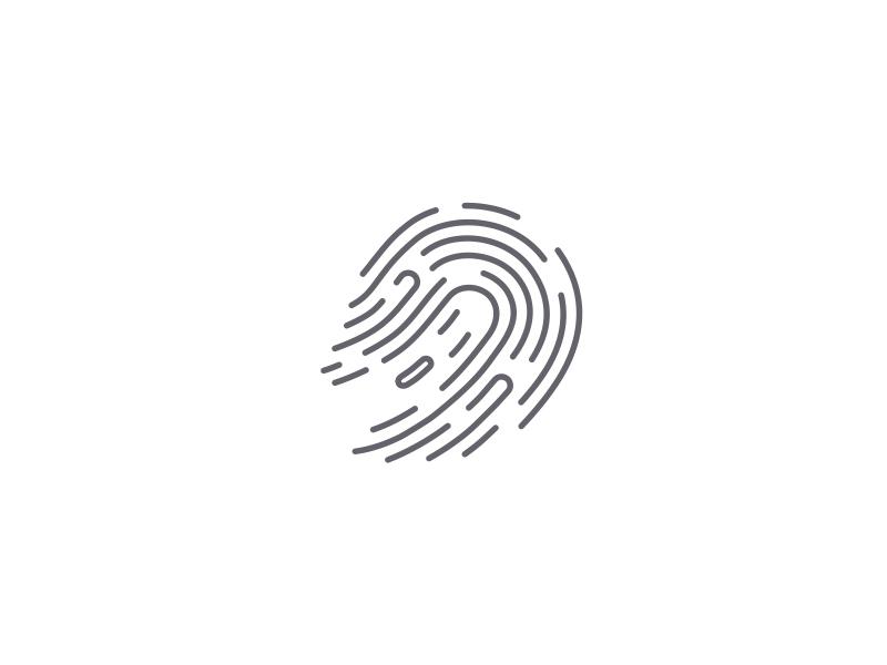 Spooky Identity spooky line ancitis design ghost fingerprint logo