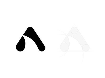 Amazing Shark bw ancitis design logo fin space negative letter a amazing shark