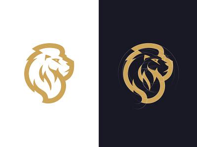 Lion profile design animal sport crest logo ancitis lion