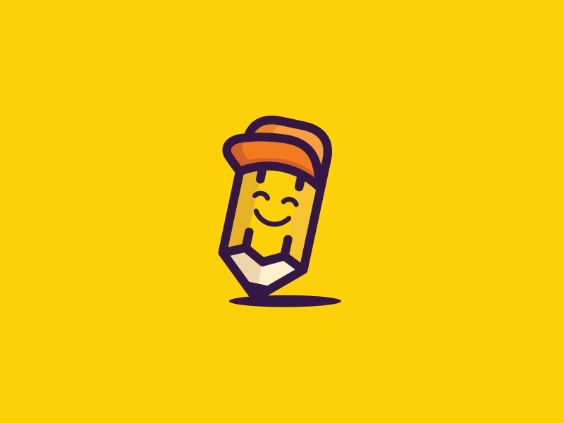 Pencil design ancitis drawing happy logo education pencil
