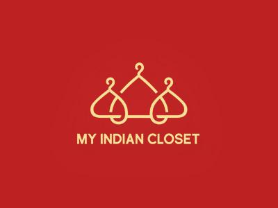 My Indian Closet india fashion logo design apparel hanger
