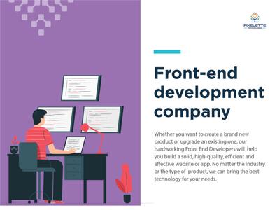 Front End Development   Pixelette Technologies app web branding design