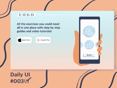 Daily UI 003 web ux ui minimal illustration design dailyuichallenge dailyui daily ui daily 100 challenge