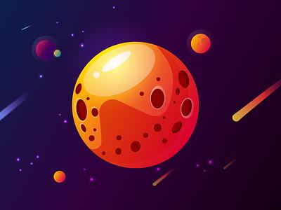 Space minimalistic artwork art illustrator planets stars space design illustration minimalism