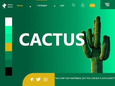 DailyUI#003 landing page design landingpage dailychallenge cactus dailyui
