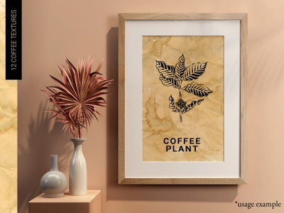 Vintage coffee paper textures #2 old hand made hand crafted stain label retro vintage illustration design background coffee texture paper