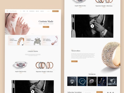 Viki Jewellers_Website Redesign Concept ecommercewebsite ecommerce design jewellerybrand responsive web design responsive website responsive website uxdeisgn uidesign uiux ui
