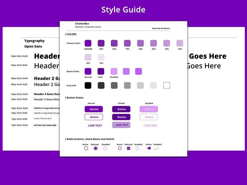 Style Guide Dribbble