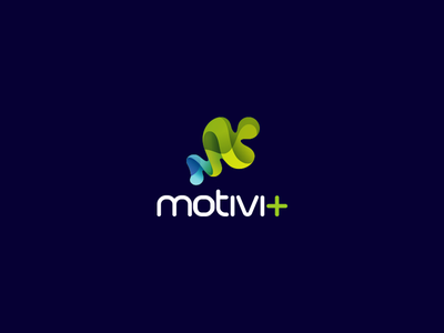 Motivi Plus symbol green turqoise m puzzle branding logo plus motivi