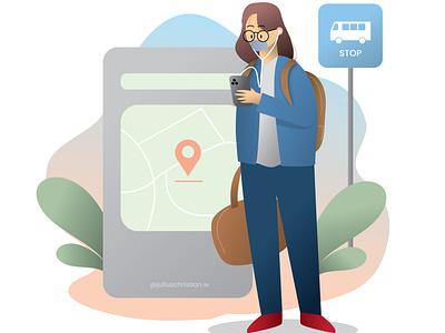 UI Ilustration (Maps) uiux uiillustration ui vector illustration vector illustrator illustration