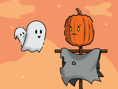 Annoying ghost illustrator vector halloween illustration