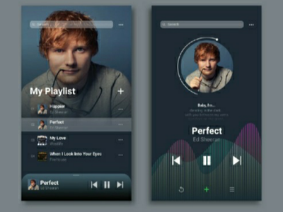 Music Player UI interface apps user interface ux ui