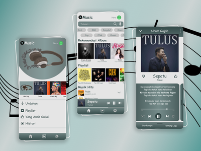 Music App design ui