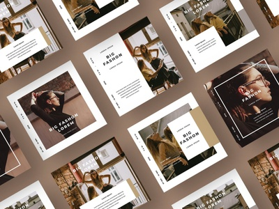 Social Media Kit Fashion minimal kit instagram feed branding business illustration social media fashion media social