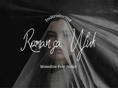 Romansa Ufuk signature logo design business branding romansa font script monoline