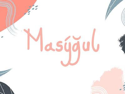 Masygul Handdrawn Font media logo monoline font hand drawn editable design business branding