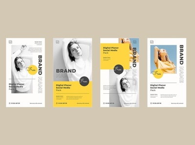 Instagram Story template instastory story instagram template illustration media editable design business branding