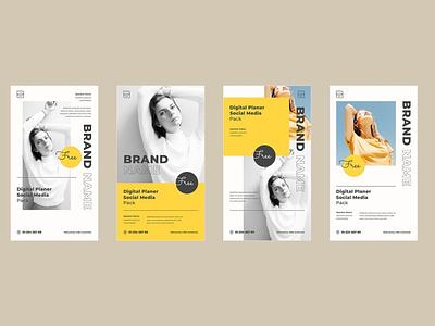 Instagram Story template instastory story instagram template illustration media editable design business branding
