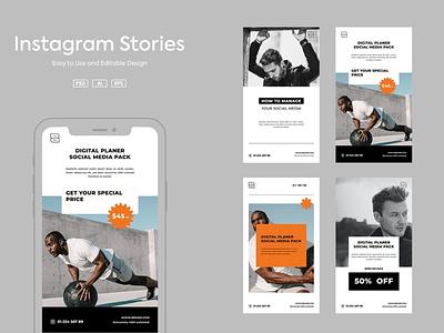 Instagram Story Template instagram feed typography template illustration media editable design business branding