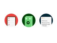 Flat Management Icons
