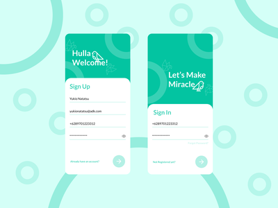Daily UI  1   SignUp minimalist exploration dailyuichallenge first daily ui mobile app design mobile design mobile app daily ui sign up sign in signup bird mobile