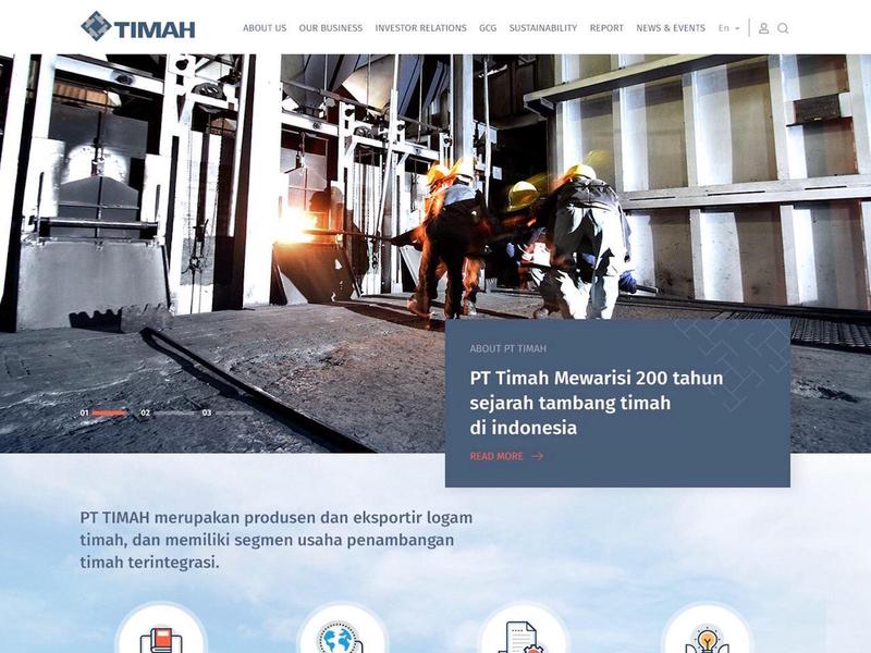 PT TIMAH branding websites websitedesign webdevelopment webdesign ux uiux ui