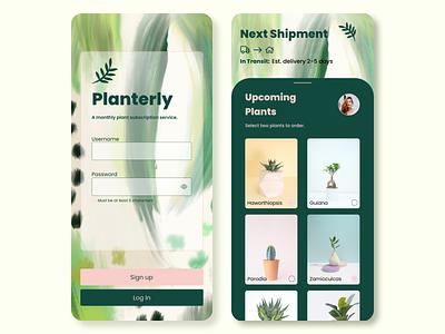 Planterly plant subscription app